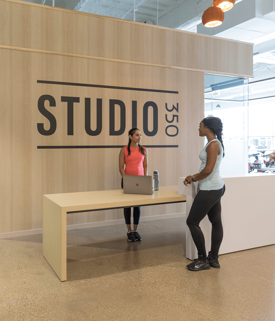 Studio 350 - A Full Service In Building Fitness Area